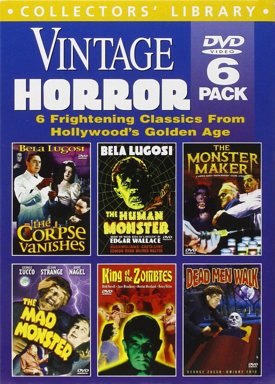 Vintage Horror (Corpse Vanishes / Dead Men Walk / Human Monster / King of the Zombies / Mad Monster / Monster Maker) (6-DVD)