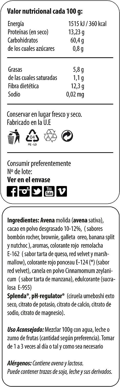 Max Protein Oatmeal Harina de Avena Termo-Activada - 1500 gr: Amazon.es: Salud y cuidado personal