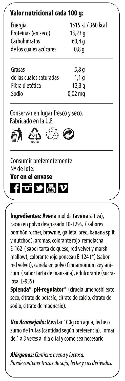 Max Protein Harina de Avena 1,5 kg Red Velvet: Amazon.es: Salud y cuidado personal