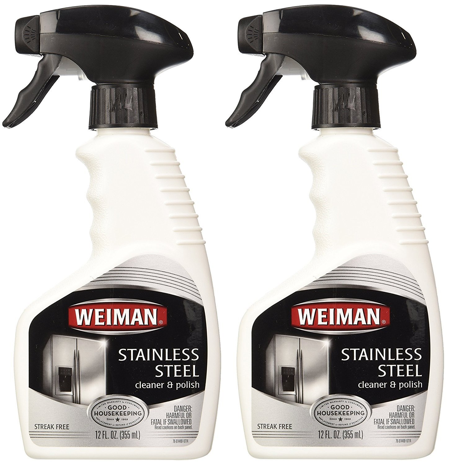 Weiman Stainless Steel Cleaner U0026 Polish Trigger Spray   Protects Appliances  From Fingerprints And Leaves A