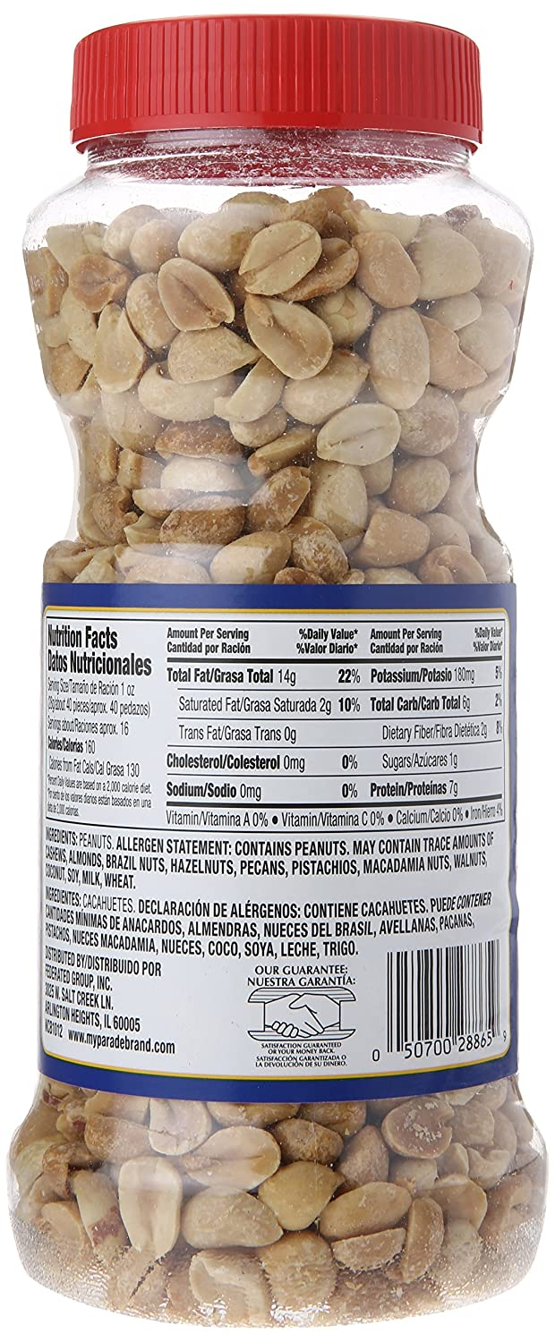 Parade Dry Roasted Peanuts, Unsalted, 16 Ounce: Amazon.com: Grocery & Gourmet Food