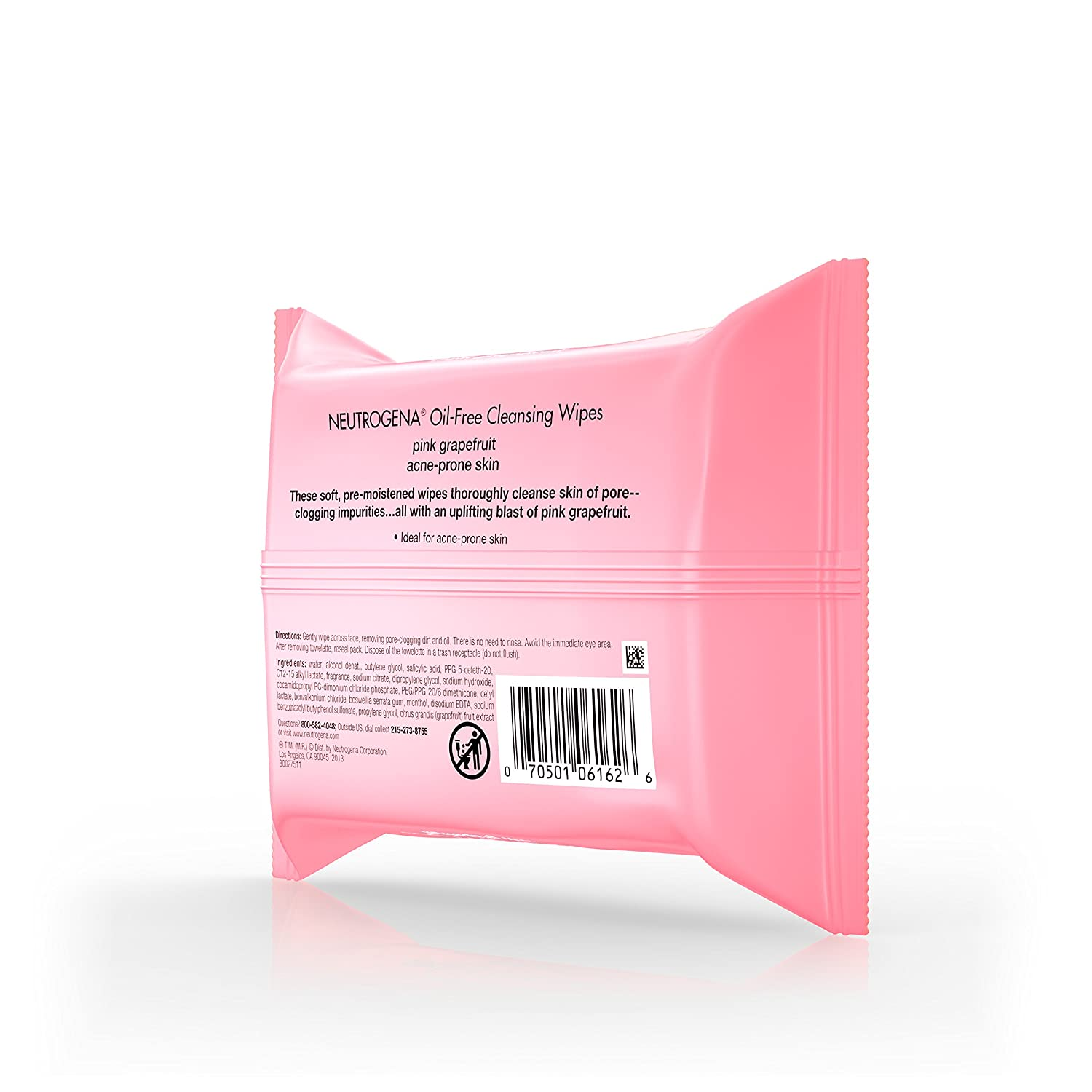 Neutrogena Cleansing Wipes, Pink Grapefruit, 25 Count by Neutrogena: Amazon.es: Belleza