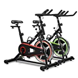 JLL IC200 Indoor Cycling Exercise Bike, Direct Chain Driven 10kg Flywheel with Adjustable Friction Resistance, 3-Piece Crank, 5-Function Monitor, Ergonomic Handlebars and Fully Adjustable Seat, Built In Wheels, 12 Months Home Use Warranty Only
