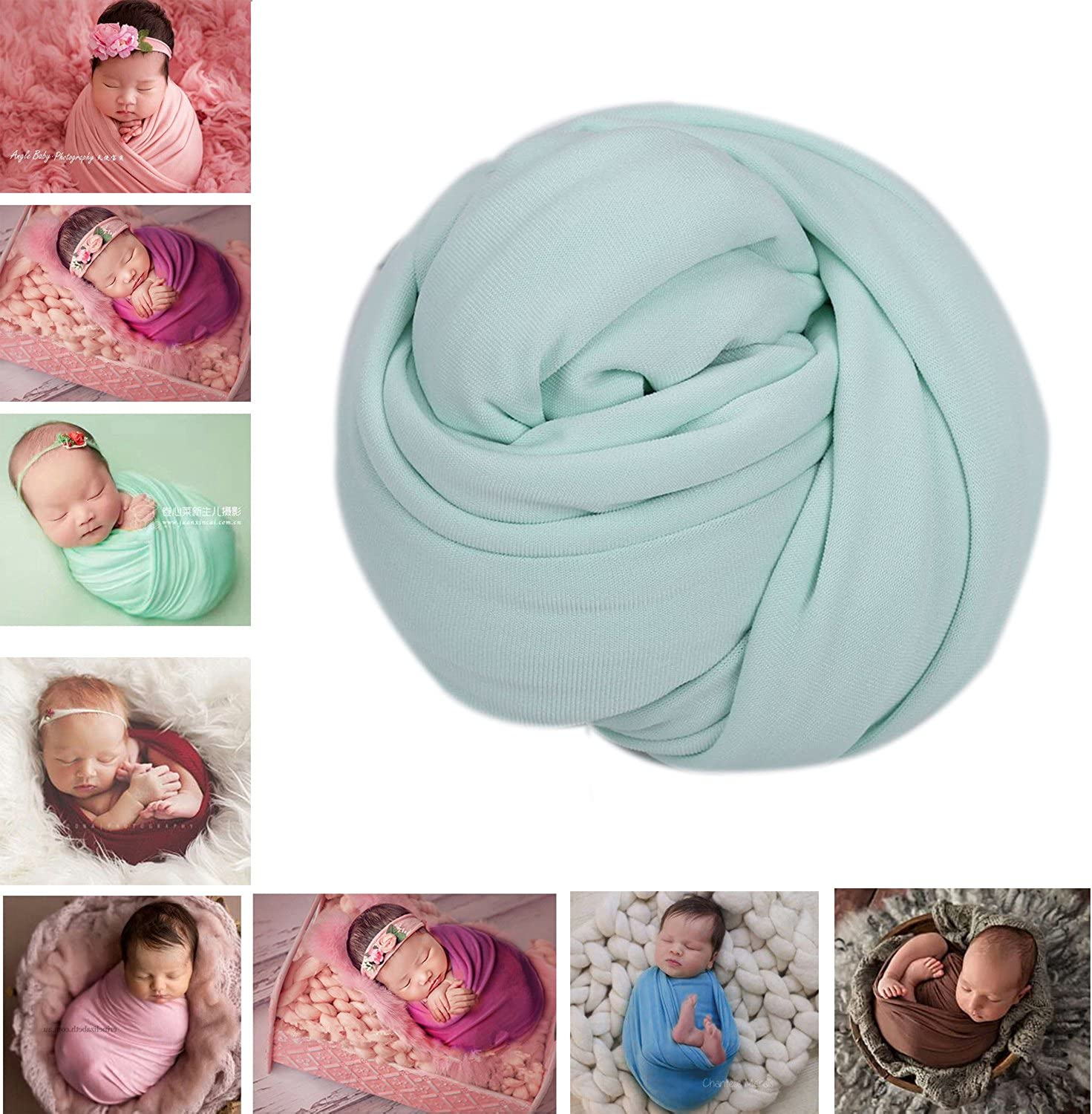 Newborn Baby Infant Soft Cotton Blanket Swaddle Wraps Photography Prop Backdrop