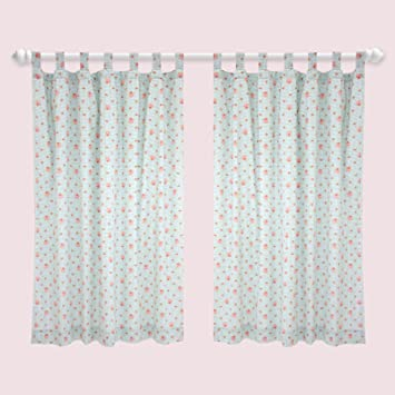 Catherine Lansfield Girls Scottie Dog Tab Top Curtains: Amazon.co ...