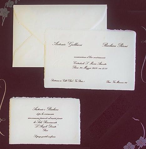 Partecipazioni Matrimonio Carta Amalfi.Partecipazioni Matrimonio Carta Amalfi Cod 1218 Produzione