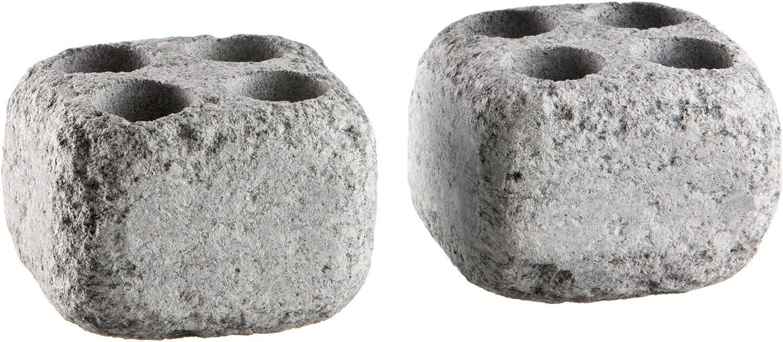Hukka Diseño - Piedras de vapor de Esteatita para Horno de sauna -Höyrykivet- Agujeros: 20 ml x 4, 2 Piezas (Original de Finlandia) [11009]