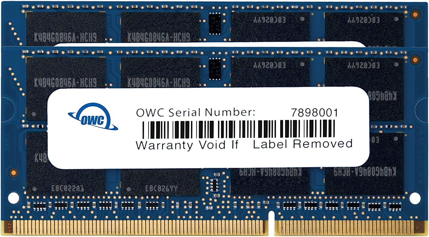OWC 16GB (2x8GB) PC3-12800 DDR3L 1600MHz SO-DIMM 204 Pin CL11 Memory Upgrade Kit for iMac, Mac Mini, and MacBook Pro, (OWC1600DDR3S16P)