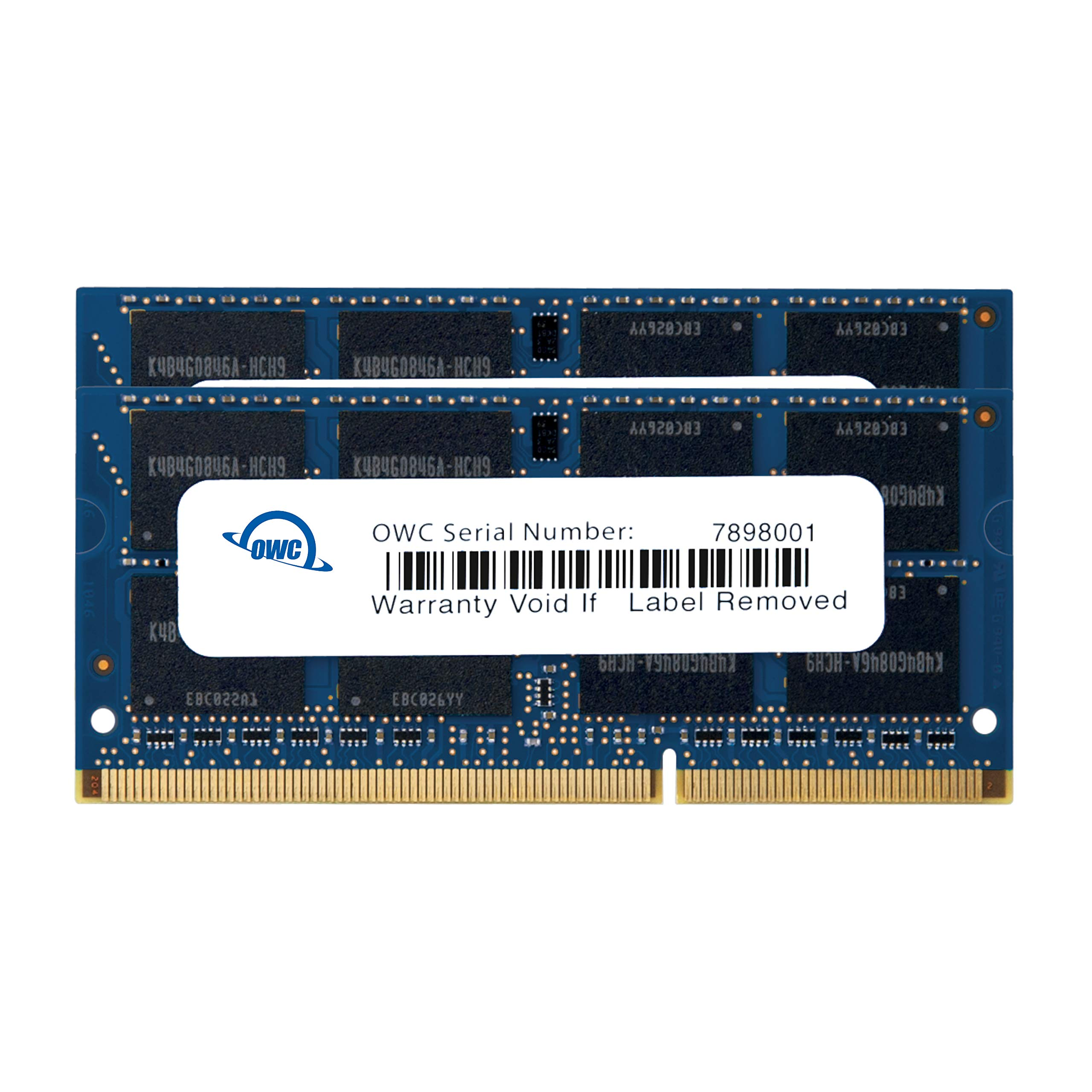 Memoria Ram 8gb Owc 16.0gb (2x ) Pc3-12800 Ddr3l 1600mhz So-dimm 204 Pin Cl11 So-dimm Upgrade Kit