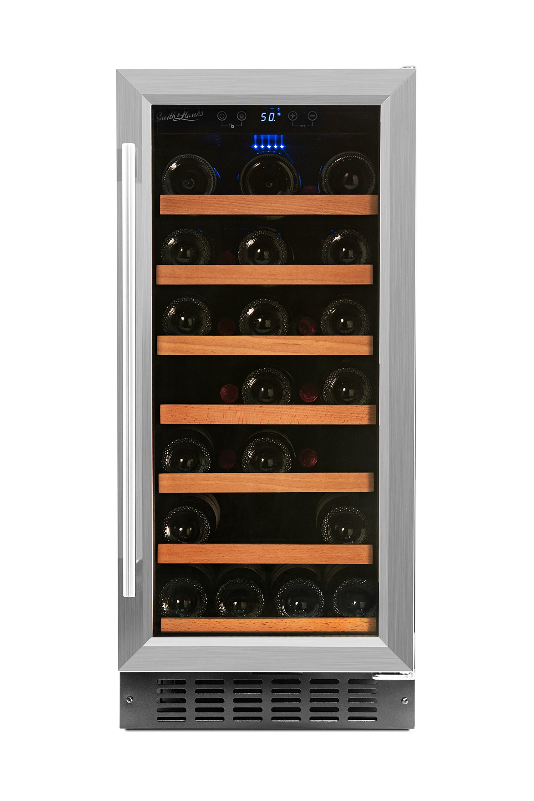 Smith & Hanks RW88SR 34 Bottle Under Counter Wine Refrigerator, 15 Inches Wide, Use Built In Or Free Standing