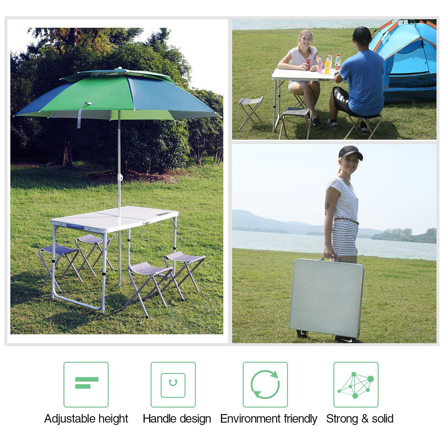 Suwikeke 4 Pieces Furniture Rattan Chair Table Patio Set Outdoor Sofa for Garden, Backyard, Porch and Poolside, Brown,
