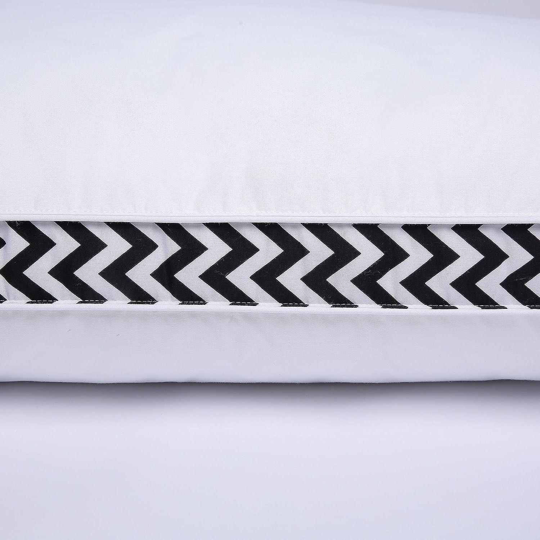 Juego de 2 puredown/® Almohadas de Plumas de Ganso 46x66x3.8cm Almohada de Soporte Medio con Funda de Algod/ón 100/%