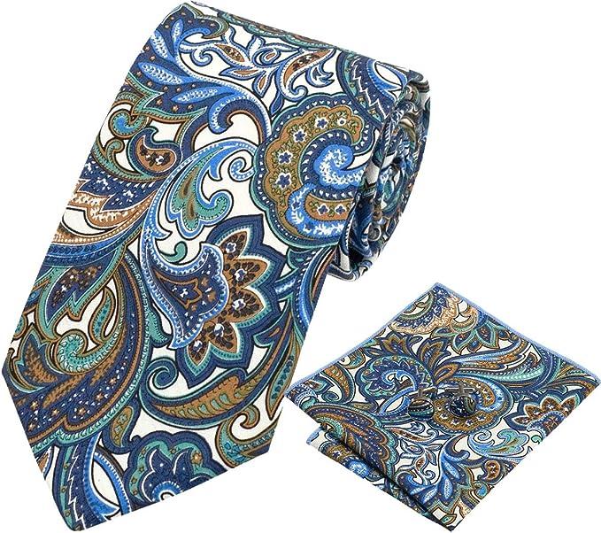 Amarillo Azul Amarillo Pañuelo de bolsillo de corbata de seda para ...