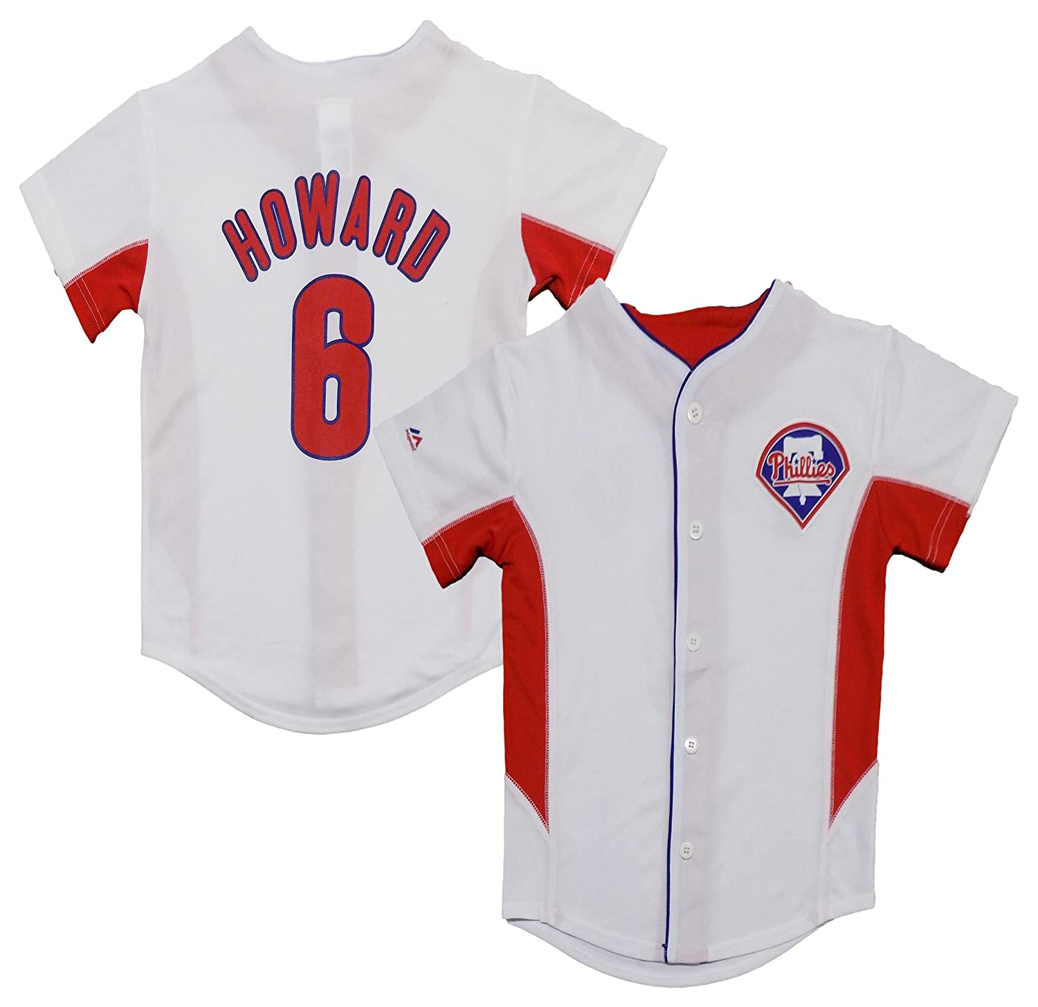 best loved 3935a 74001 OuterStuff Ryan Howard Philadelphia Phillies White Youth ...