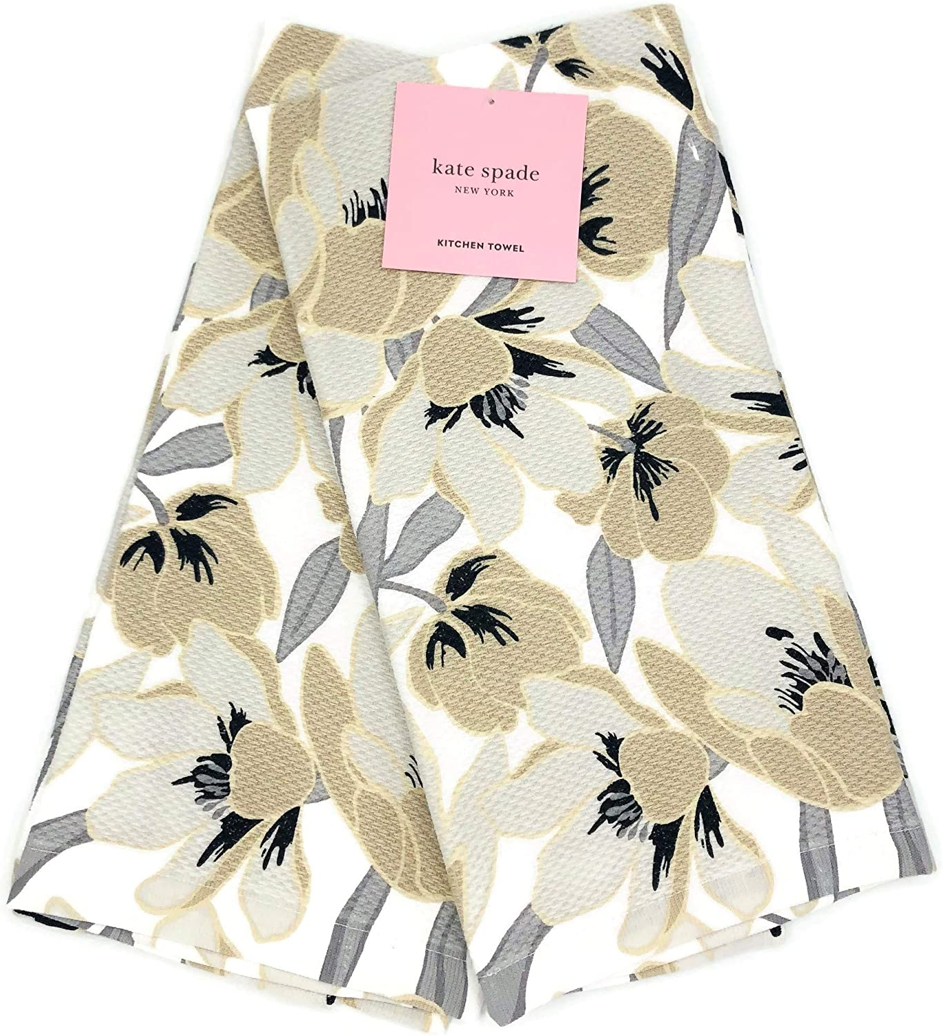 Kate Spade New York Flaxseed Rio Tropical Floral 2 Pack Kitchen Towels Dishtowels Set