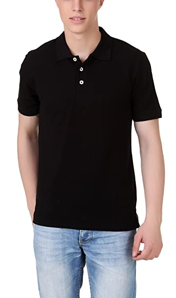 AMERICAN CREW Men's Cotton and Polyester Blend Polo T-Shirt Polos at amazon