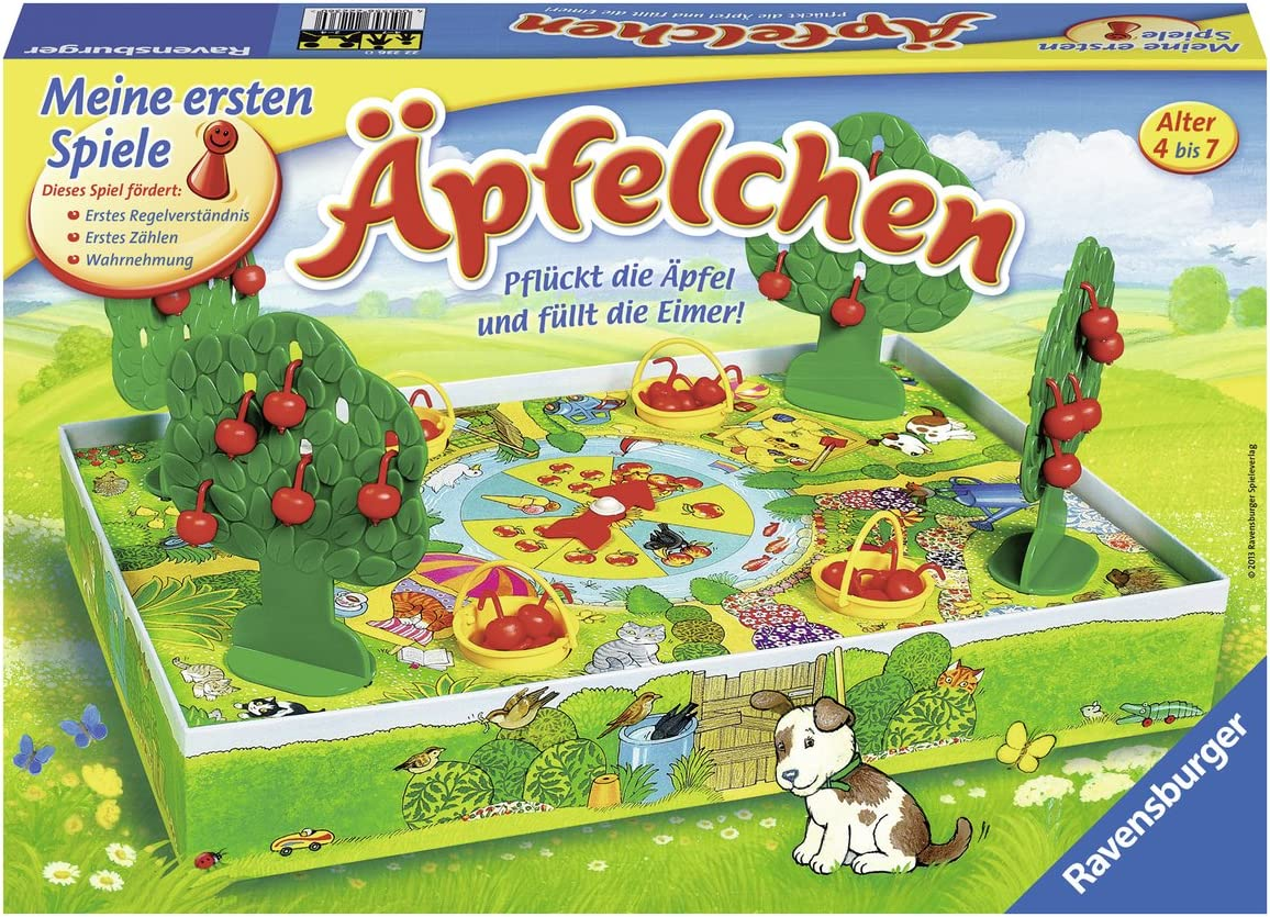 Ravensburger Äpfelchen Niños Juego de Mesa de Aprendizaje - Juego de Tablero (Juego de Mesa de Aprendizaje, Niños, 20 min, 4 año(s), 7 año(s)): Amazon.es: Juguetes y juegos