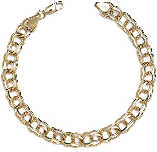 10k Yellow Gold Anniversary Charm With Lobster Claw Clasp Charms for Bracelets and Necklaces