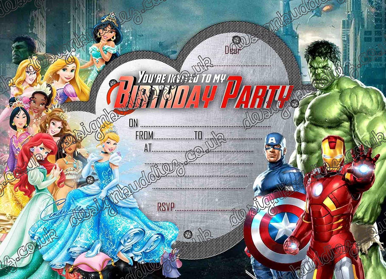 Juego de 10 invitaciones de cumpleaños con un diseño de ...