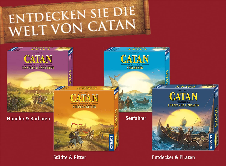 Erweiterung zu CATAN Strategiespiel Entdecker /& Piraten CATAN Das Spiel KOSMOS 693411