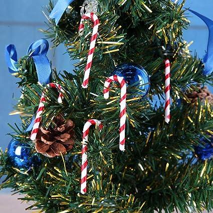 L Albero Di Natale.Demiawaking 50pcs Lot Bastoncini Di Zucchero Ciondolo Decorazioni Per L Albero Di Natale Pendente Regalo Di Natale 6 5cm