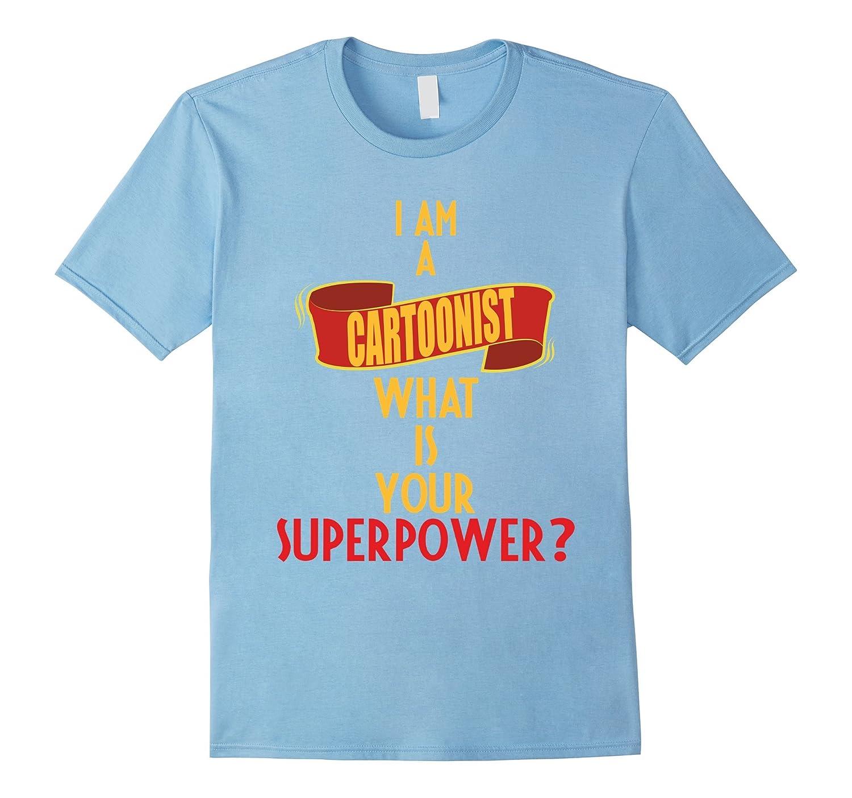 Cartoonist T shirt I superpower Medium Black-Tovacu