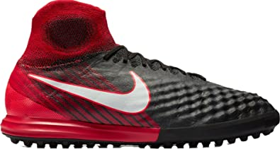 on sale e9232 98b6b Nike Magistax Proximo II Indoor Soccer Shoes (7, Black Red)