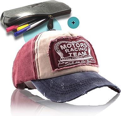 HeadUp - Gorra de béisbol para Hombre y Mujer (Incluye Estuche de Francia): Amazon.es: Ropa y accesorios