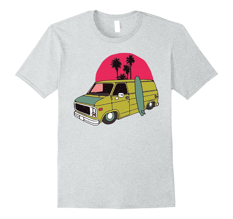 ead4a9f44daedc Old School Low Rider Vintage Van Tshirt - Sun Surf Palms Tee-FL ...