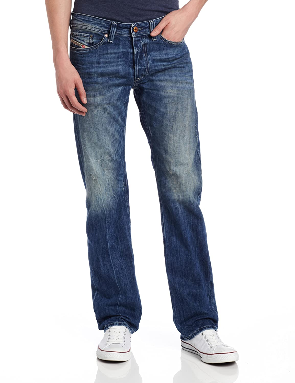 Diesel Men's Viker Regular Slim Straight-Leg Jean 0811I Diesel Men's Collections 00AAZN0811I