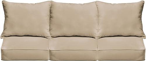 Mozaic AZPCSET4362 Indoor or Outdoor Deep Sofa Seat Cushion Set