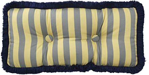 12 x 26 Heritage Blue Waverly Sanctuary Rose Oblong Decorative Pillow