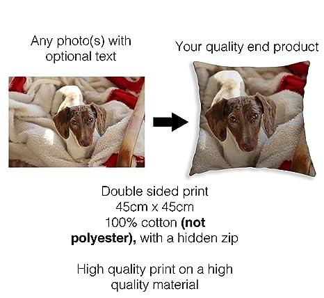 Funda de cojín personalizada para perro con foto para ...
