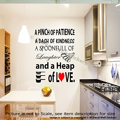 A Pinch Of Patience A Dash Of Kindness Kitchen Vinyl Wall Decals Home Decor Stickers Kitchen Wall Art