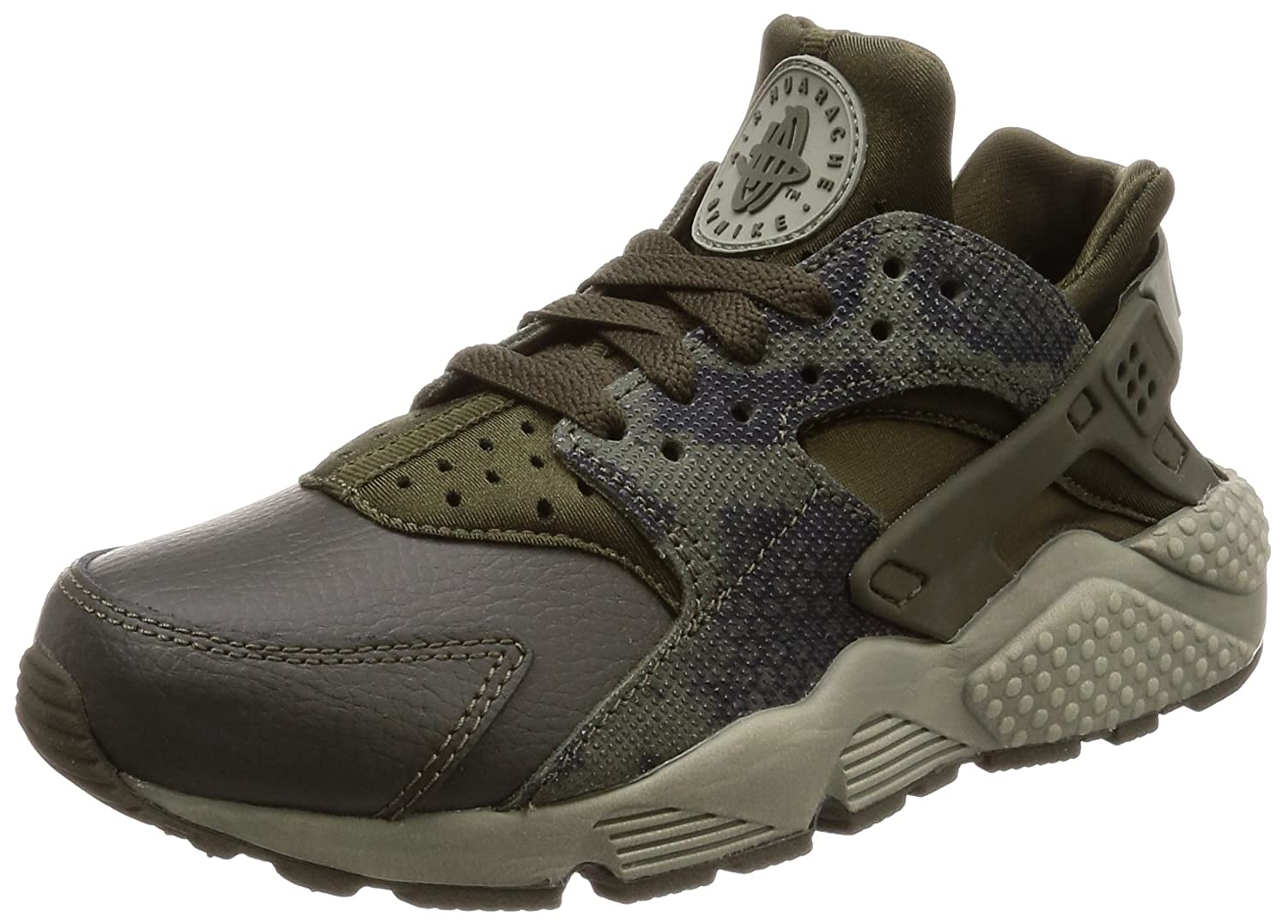 NIKE Women's Huarache Run SE Running Shoe B077SJ22NN 5.5 M US|Khaki