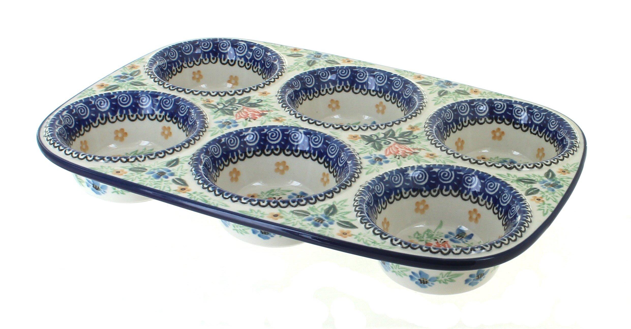 Polish Pottery Irena Muffin Pan