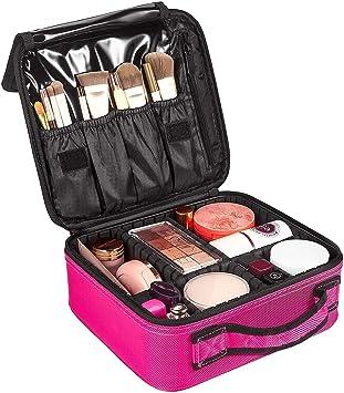 Neceser de Maquillaje, Bolsa de Cosméticos Organizador - Brochas de Maquillaje Estuches Portátil Maletín de Almacenamiento, Funda de Viaje: Amazon.es: Belleza