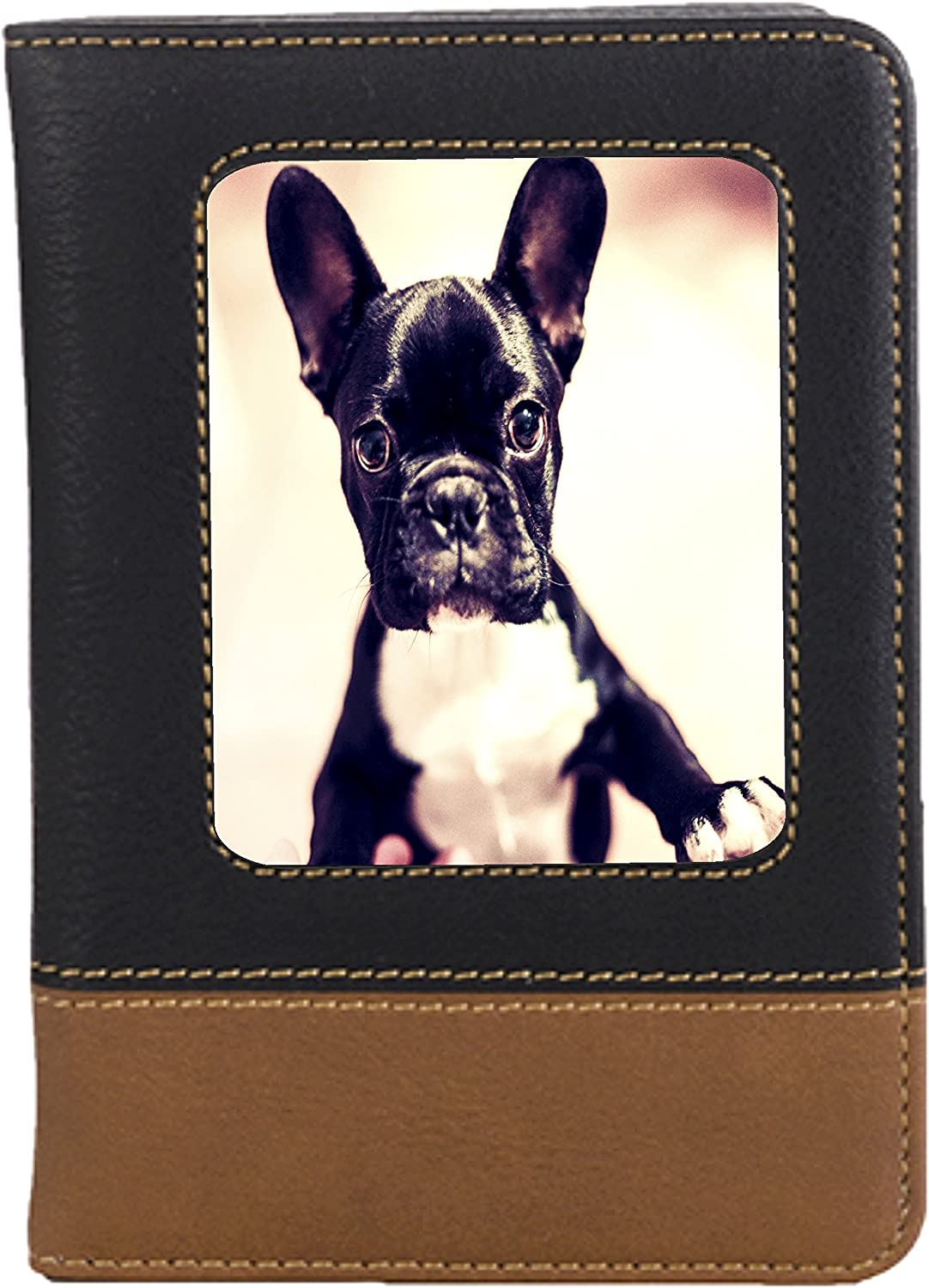 French Bulldog Puppy Leatherette Passport Wallet Style Case Cover For Travel
