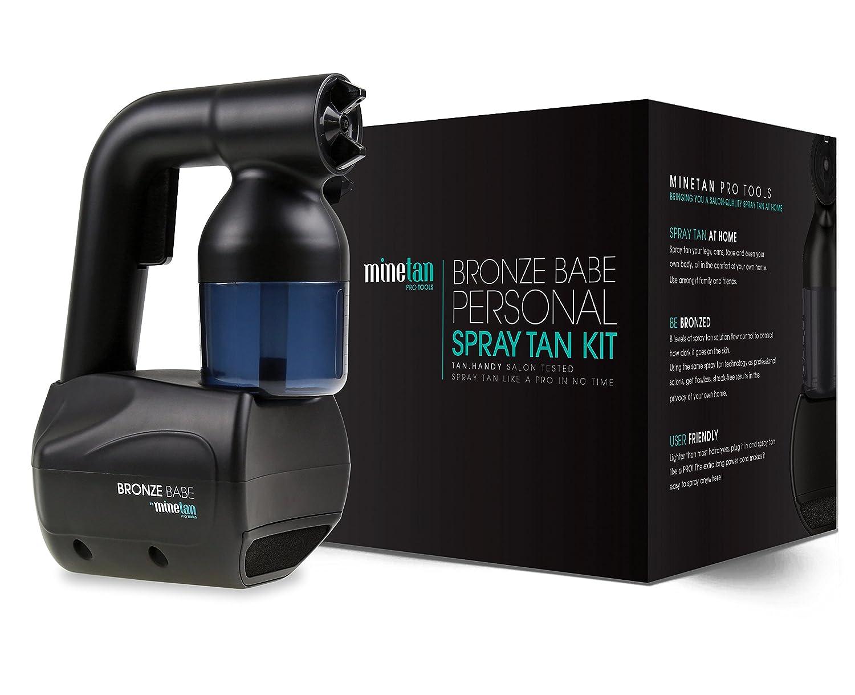 MineTan Bronze Babe Personal Spray Tan Kit Black - Portable, At Home Spray Tan Machine with Spray Tan Solution