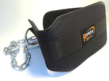 POWER Sports - Cinturón de musculación para levantar pesas (neopreno, profesional): Amazon.es: Deportes y aire libre