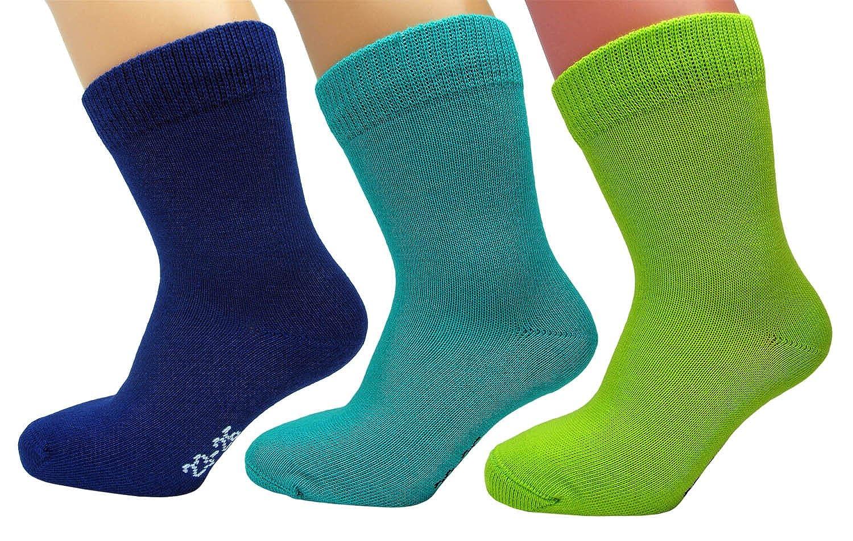 Calcetines Infantiles para Niños y Niñas 98% ALGODÓN (3 x Pack Multicolor) Suaves Respirables Cómodos, Vitsocks