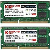Komputerbay PC3-10600 16GB (2x 8GB) 204-Pin 1333MHz SODIMM computer portatile Memoria Mac Memoria per Apple Mac