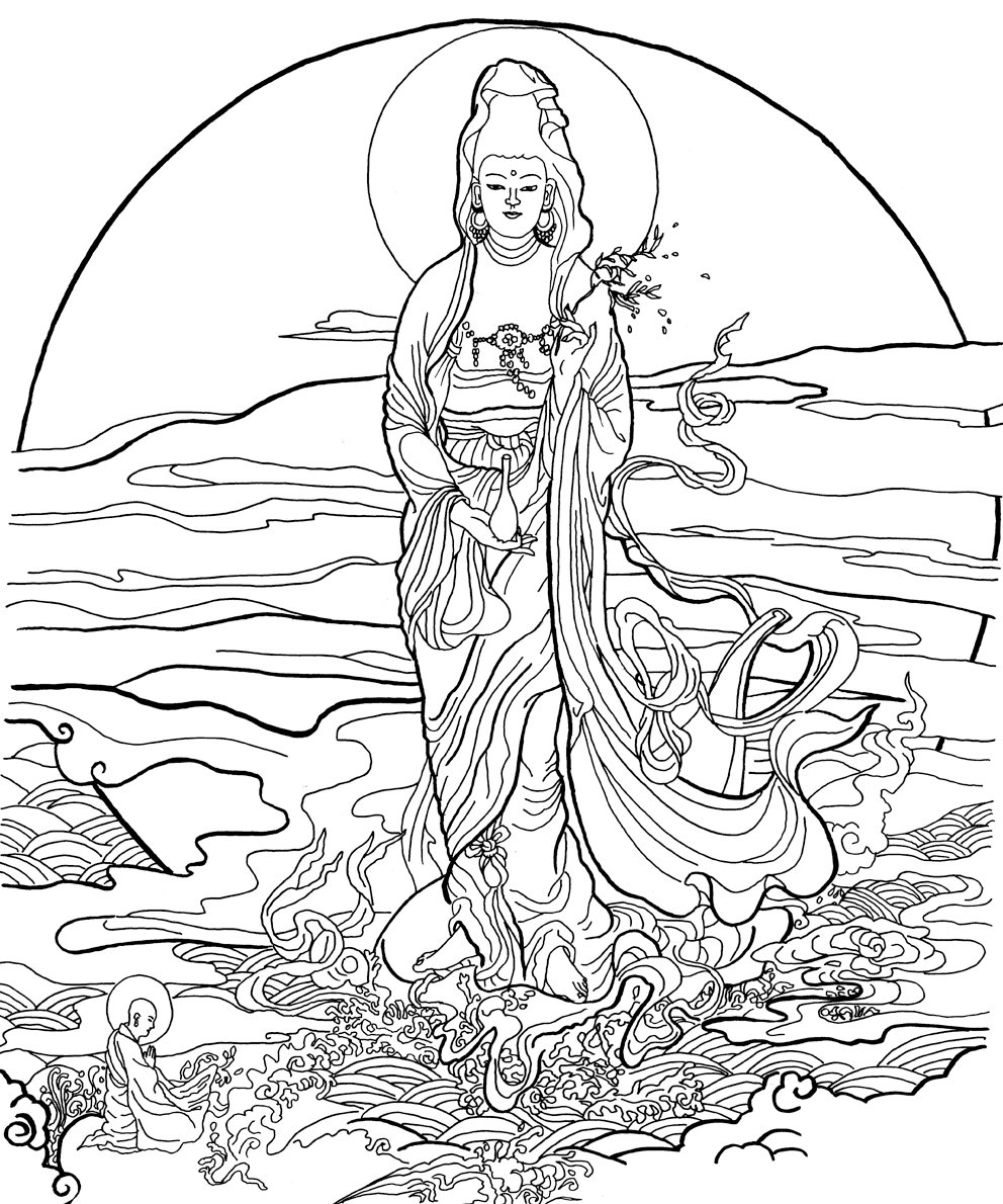 buddhism coloring pages Buddhist Paintings Coloring Book: Asian Art Museum of San  buddhism coloring pages