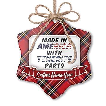 Amazon.com: NEONBLOND Customizable Ornament Made in America ...