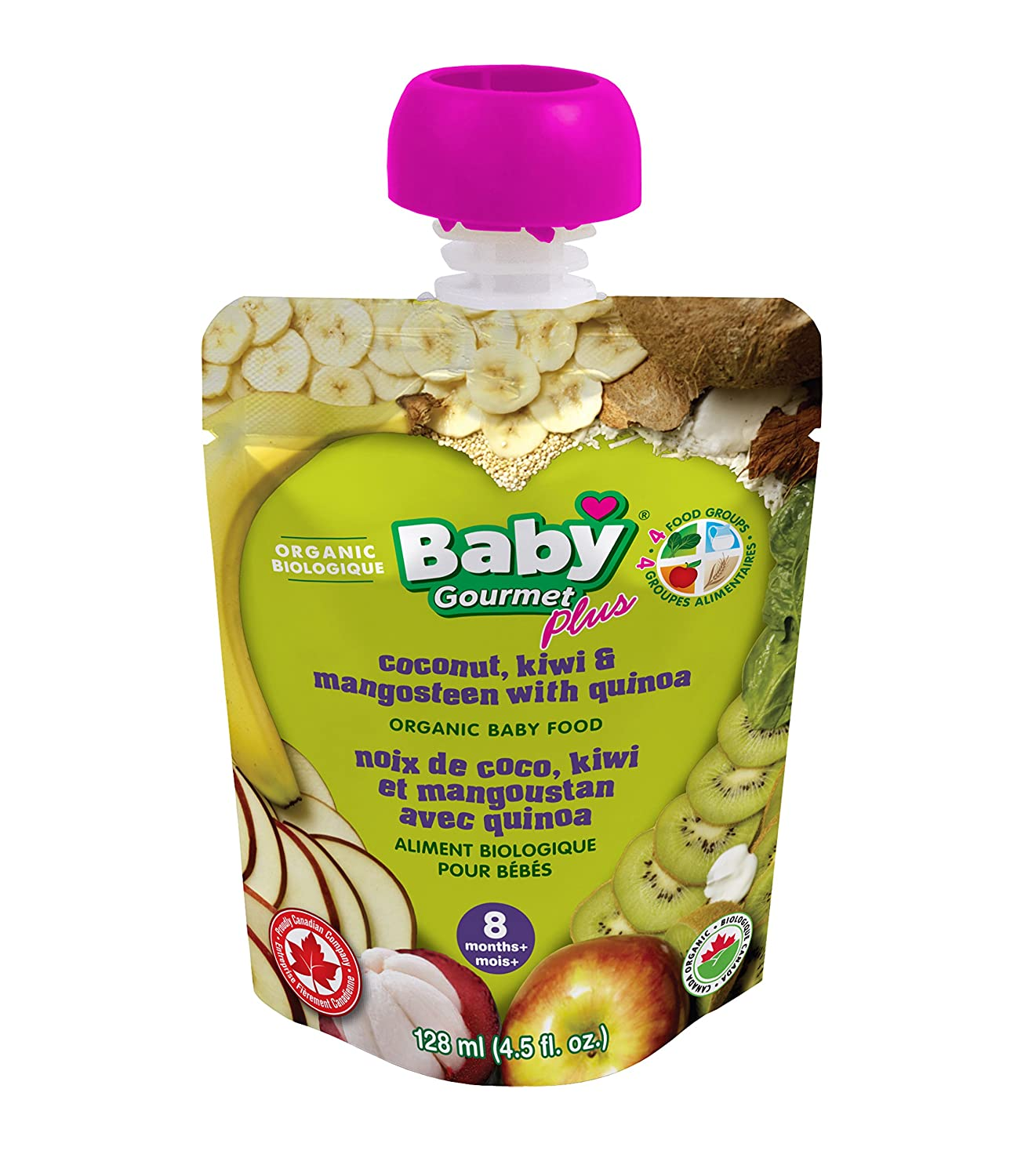 Baby Gourmet PLUS Coconut Kiwi & Mangosteen with Quinoa (Pack of 12) COKM4BGCSCD0012