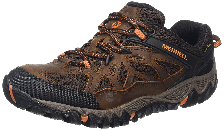 Merrell All Out Blaze Vent GTX Herren Trekking-  Wanderhalbschuhe  40 EU|Braun (Brown/Burnt Maple)