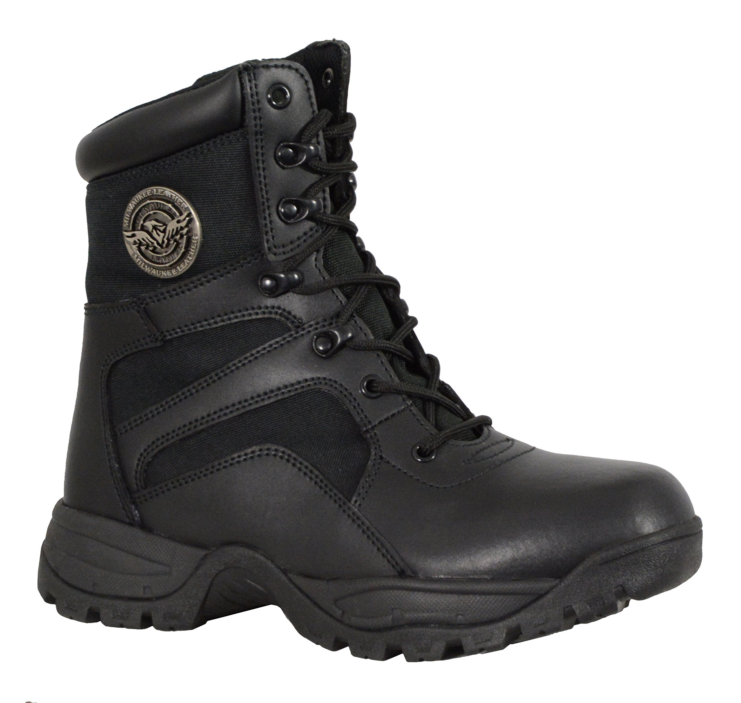Milwaukee Performance Men's Leather Lace to Toe Tactical Boots (Black, Size 11)
