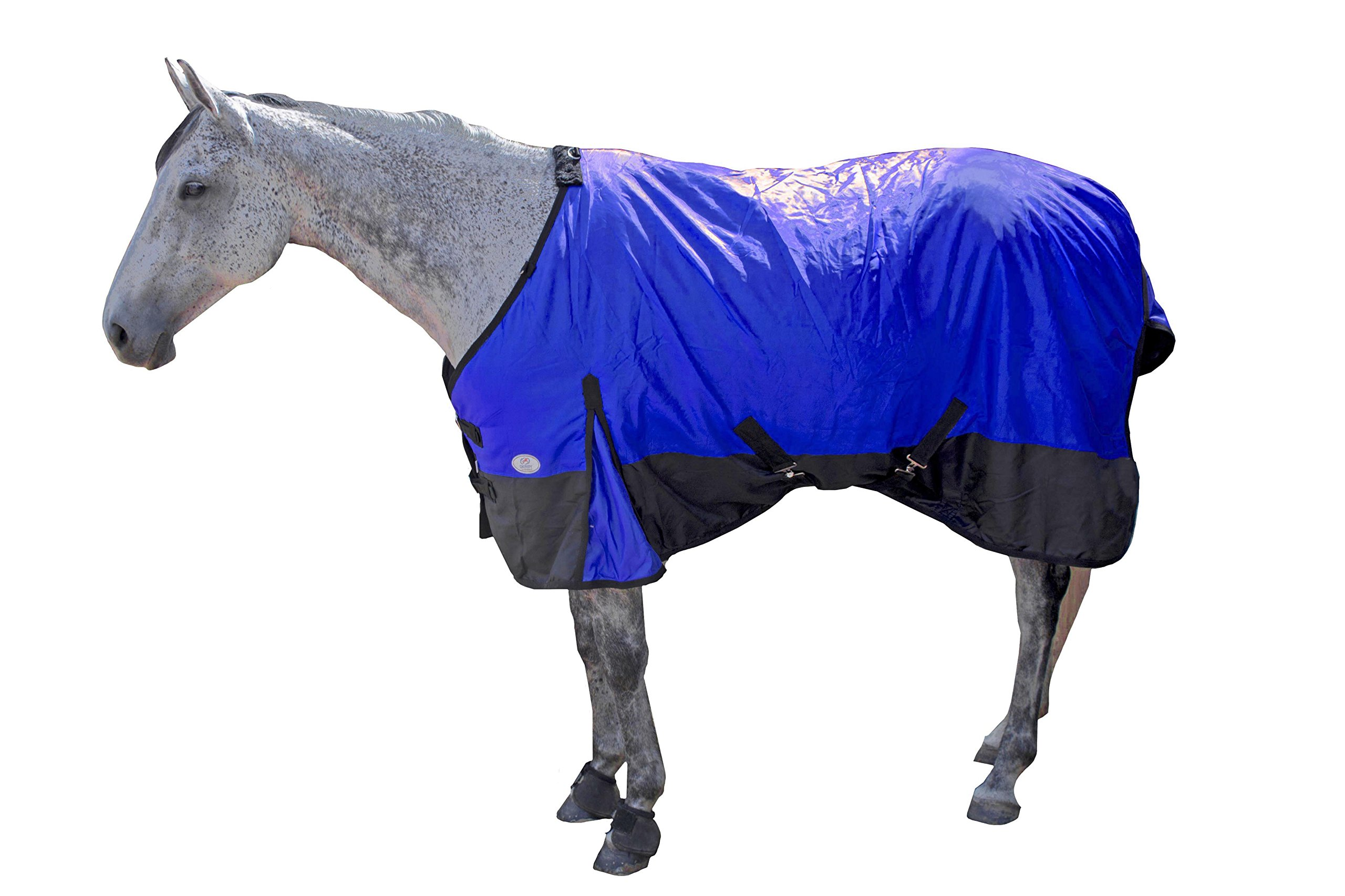 Derby Originals Horse Winter Stable Insulated Blanket,Royal Blue with Black Trim , 69''