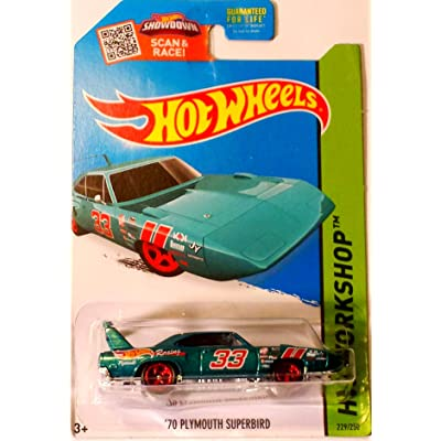 Hot Wheels, 2015 HW Workshop, '70 Plymouth Superbird [Turquoise] 229/250: Toys & Games
