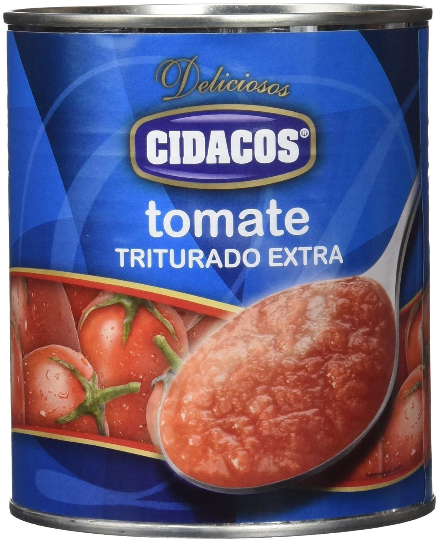 Cidacos - Tomate Triturado Cil, 800 g - [Pack de 4]